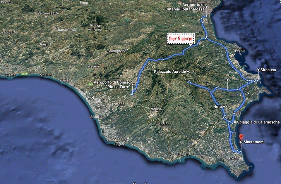 Cosa vedere in Sicilia Sud Orientale in 5 Giorni
